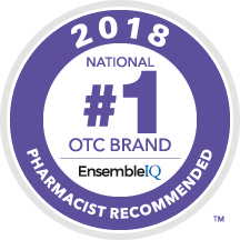 2018 #1 National OTC Brand Pharmacist Recommended