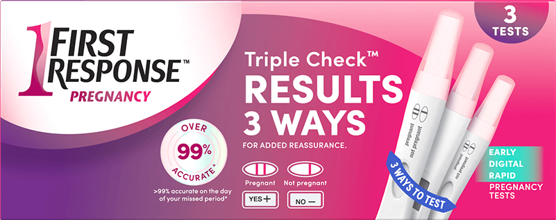 FIRST RESPONSE™ Triple Check Pregnancy Test Kit