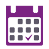 First Response ovulation test icon in purple