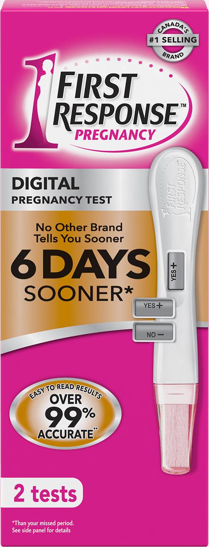 digital pregnancy test first response first response. Black Bedroom Furniture Sets. Home Design Ideas
