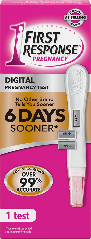 Gold Digital Pregnancy Test First Response First Response