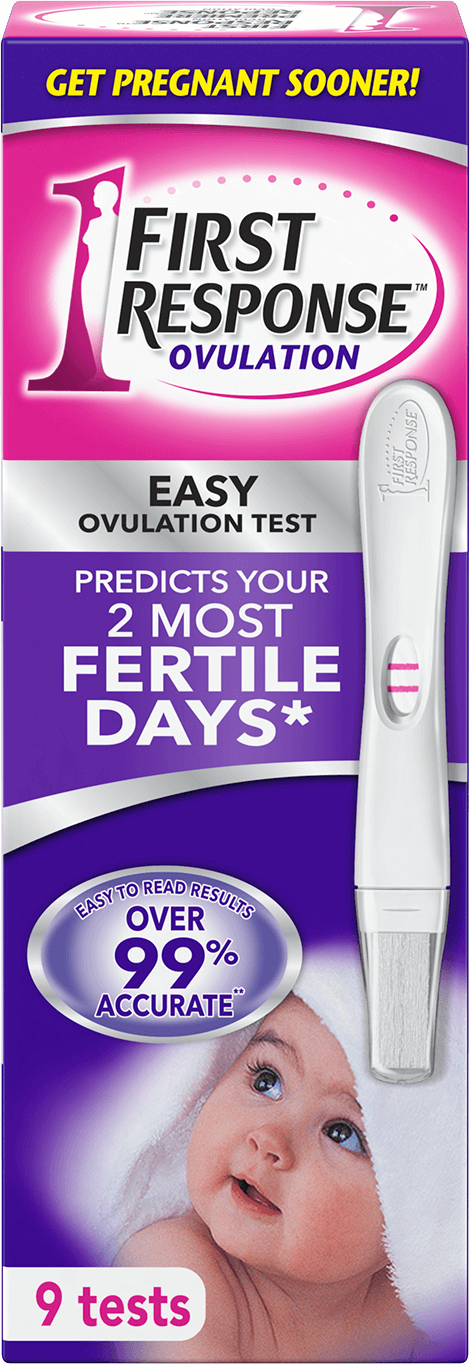 First Response ovulation plus pregnancy test with 7 ovulation tests and 1 pregnancy test