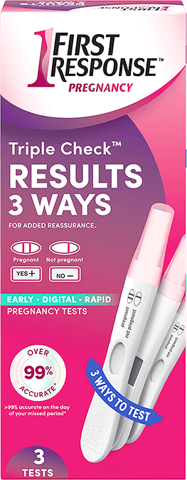 Triple check package front