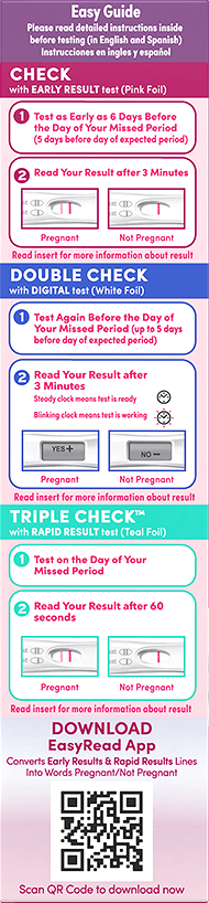 FIRST RESPONSE™ Triple Check Pregnancy Test Kit Easy Guide