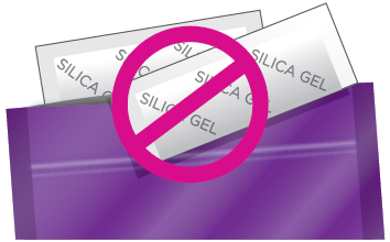 Do not use Silica Gel in First Response ovulation packages