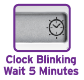 First Response blinking clock on digital display window