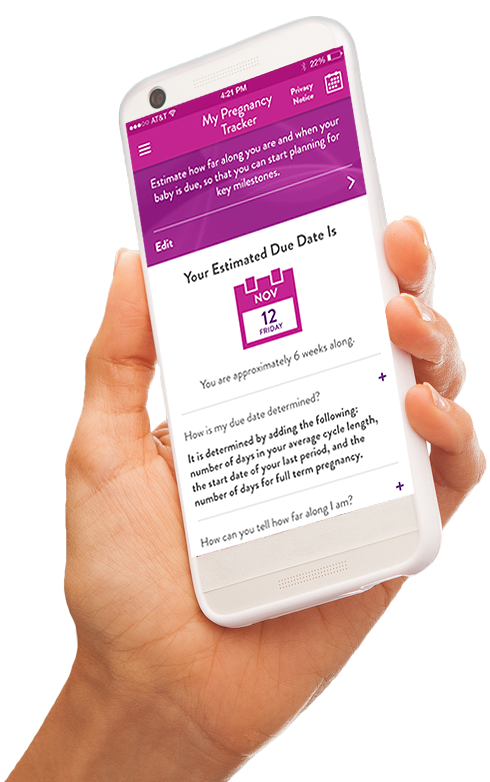 first response pregnancy pro app on mobile device